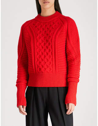 Mary Katrantzou Cable-knit wool jumper