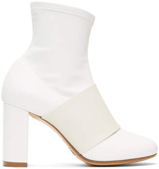 MM6 MAISON MARGIELA White Cut Heel Banded Boots