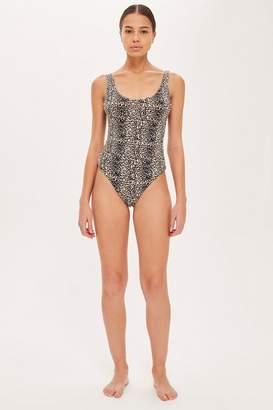 Topshop Leopard Print Scoop Back Bodysuit