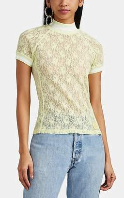 alexanderwang.t. Women's Floral-Lace Mock-Turtleneck Top - Green
