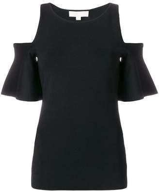 MICHAEL Michael Kors cold-shoulder bell-sleeve top