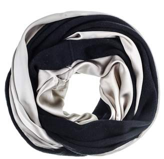 Black Double Size Champagne Silk and Cashmere Snood
