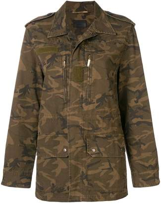 Saint Laurent camouflage print military jacket