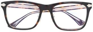 Gucci embossed titanium square glasses