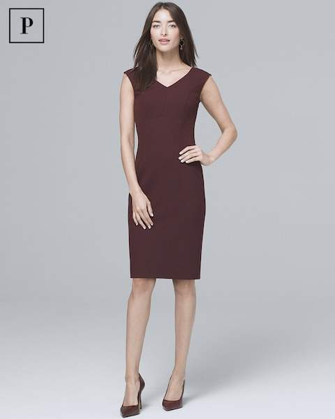 Whbm Seamed Sheath Dress