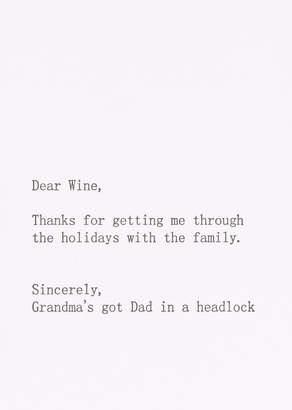 Sapling Press Thank You Wine Holiday Card | Wildfang - Thank You Wine Holiday Card - WHITE - OS