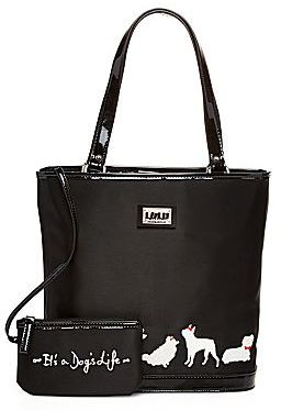Lulu by Guinness® Dog-Print Tote