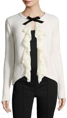 Manoush Women's Tie Neck Wool-Blend Cardigan