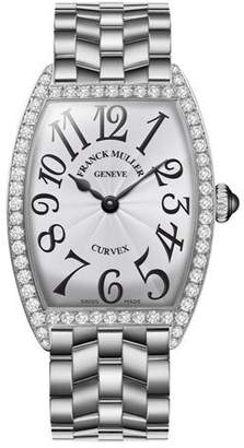 Franck Muller Ladies Curvex Stainless Steel Diamond Watch