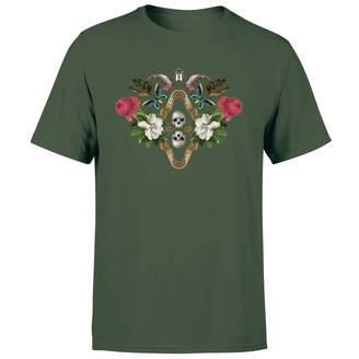 Natural History Museum Skulls And Flowers Men's T-Shirt