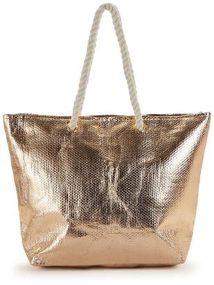 Very Rose Metallic Beach Bag