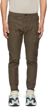Julius Khaki Stretch Back Cargo Pants