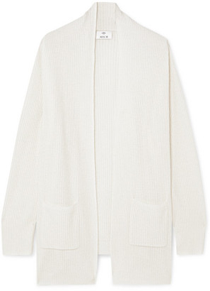 Allude Ribbed Cashmere Cardigan - Cream