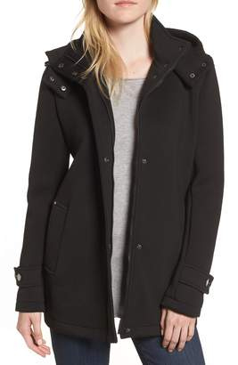 Kenneth Cole New York Bonded Hooded A-Line Jacket
