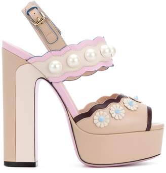 Fendi studded platform sandals