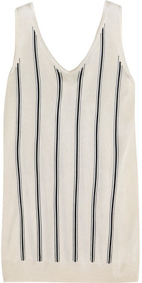 Lanvin - Striped Stretch-knit Tank - Ivory $890 thestylecure.com