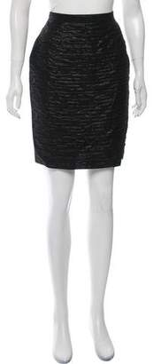 Dolce & Gabbana Ruched Metallic Skirt