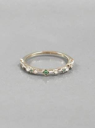 Kataoka Diamond, Paraiba and Emerald Dotted Ring