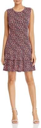 MICHAEL Michael Kors Micro-Floral Tiered Ruffle Dress