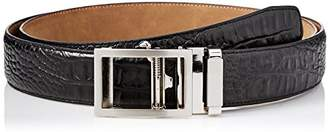 Greg Norman Men's Croco Grain Adjustable Comfort Fit Ratchet Belt
