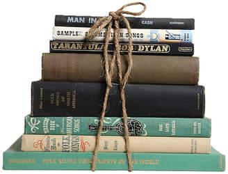 One Kings Lane Vintage Vintage Book Gift Set: Folk Music - Set of 8 - Booth & Williams