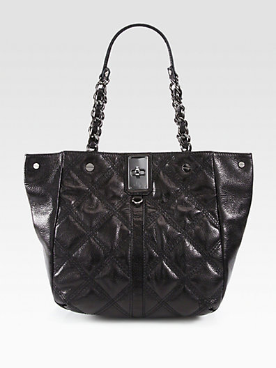 Milly Sabrina Quilted Leather Tote Bag