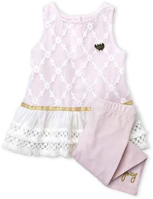 Juicy Couture Newborn Girls) Two-Piece Diamond Pattern Tunic & Leggings Set