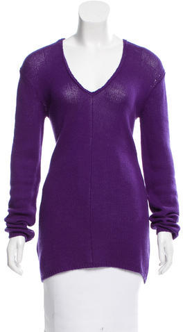 pradaPrada V-Neck Long Sleeve Sweater