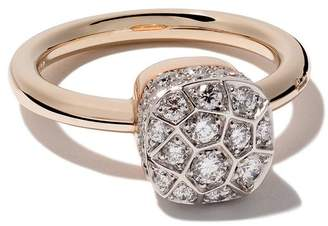 Pomellato 18kt rose and white gold Nudo Solitaire diamond ring