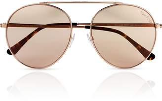 Tom Ford Simone-02 Rounded Aviator Sunglasses - Rose