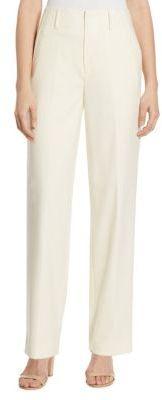 Polo Ralph Lauren High-Waist Crepe Straight-Leg Pants $245 thestylecure.com