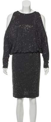 Michael Kors Embellished Cold-Shoulder Dress