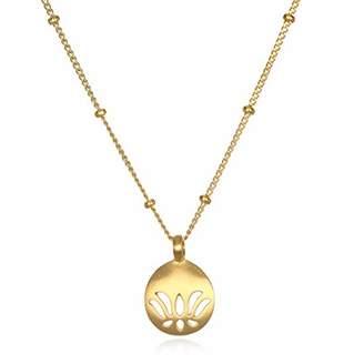 Satya Jewelry Women's Open Lotus Pendant Necklace 18-Inch