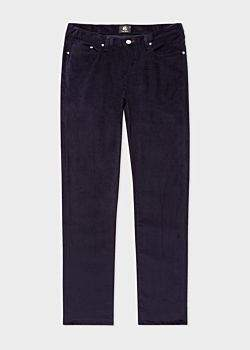 Paul Smith Men's Tapered-Fit Navy Stretch-Cotton Corduroy Trousers