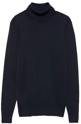 Banana Republic Stretch-Cotton Turtleneck Sweater