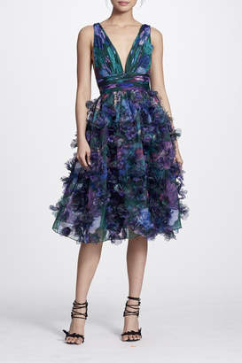 Marchesa Sleeveless Cocktail Dress