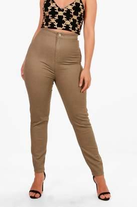 boohoo Plus Khaki Tube Skinny Jean