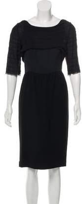 3.1 Phillip Lim Ruffle-Trimmed Virgin Wool Dress