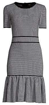 Michael Kors Women's Gingham Stretch Sheath Dress