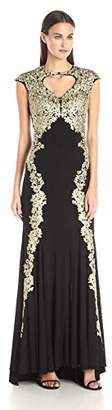 Betsy & Adam Women's Long Lace Over Jersey $137.90 thestylecure.com