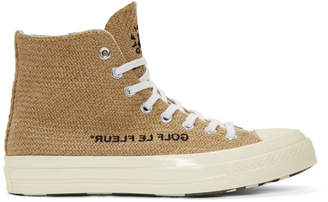 Converse Beige Golf le Fleur* Chuck 70 High Sneakers