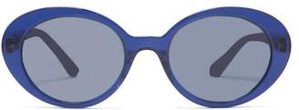 The Row X Oliver Peoples Parquet Sunglasses - Womens - Navy
