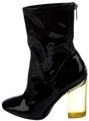 Christian Dior Patent Lucite Heel Booties