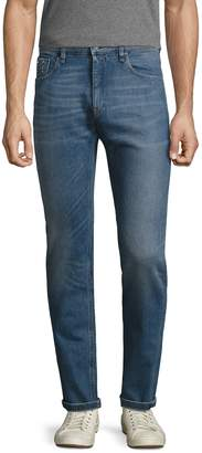 Fendi Men's Cotton Faded Slim Jeans