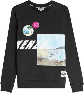 Kenzo Printed Cotton Sweatshirt with Patches