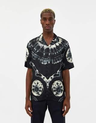 Dries Van Noten Carlton Camp Collar Shirt in Black