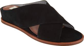 ED Ellen Degeneres Leather or Suede Wedge Slides - Treya