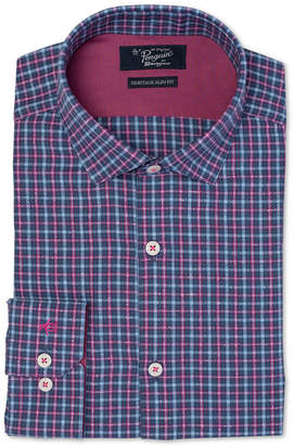 Original Penguin Men's Heritage Slim-Fit Comfort Stretch Tweed Plaid Dress Shirt