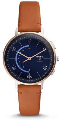 Fossil Hybrid Smartwatch - Q Harper Tan Leather