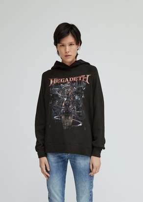 R 13 Distressed Megadeth Machina Hoodie